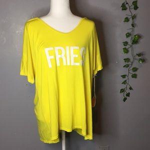 NWT Show me your Mumu oversized fries shirt small